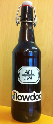 Commemorative beer for the launch: Flowdock API IPA