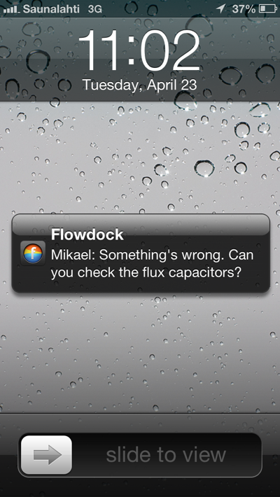 Flowdock iPhone Push Notifications
