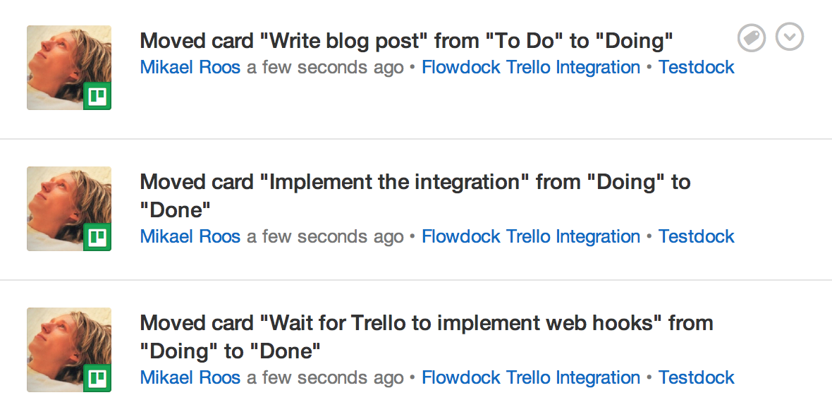Trello Flowdock integration