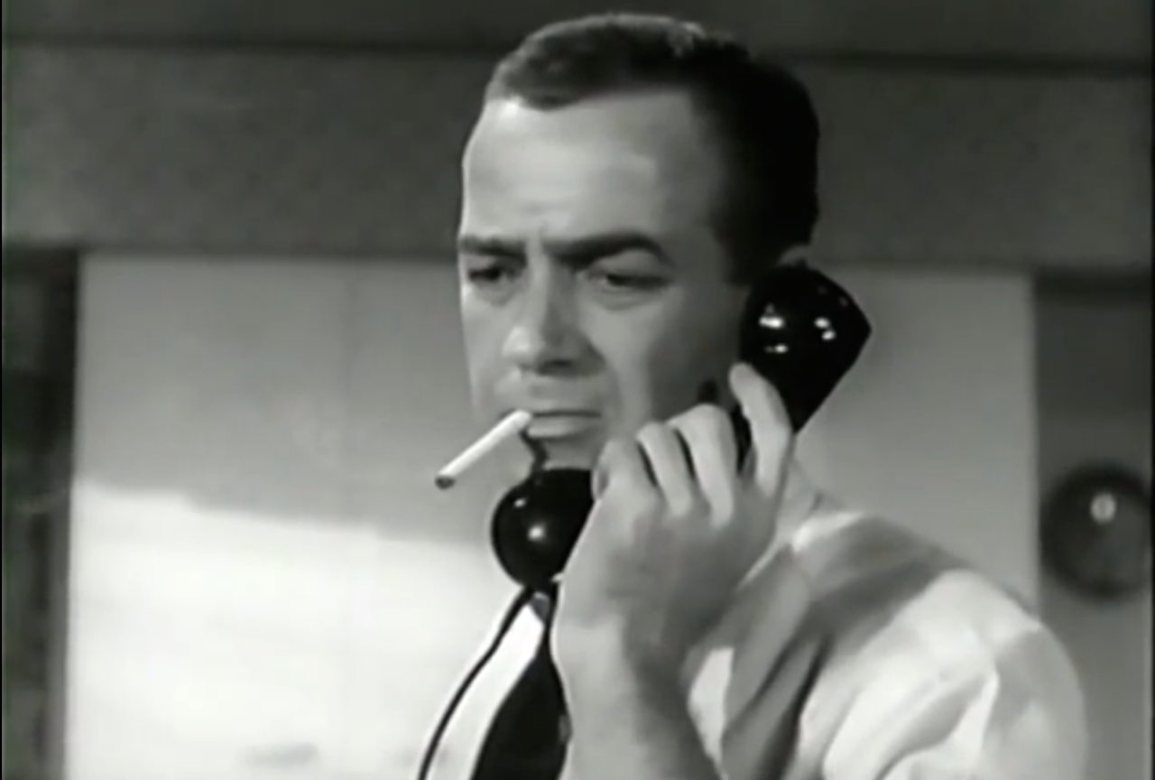 Support agent on the phone. From the movie Time Table: http://youtu.be/4Vj_lMvczow