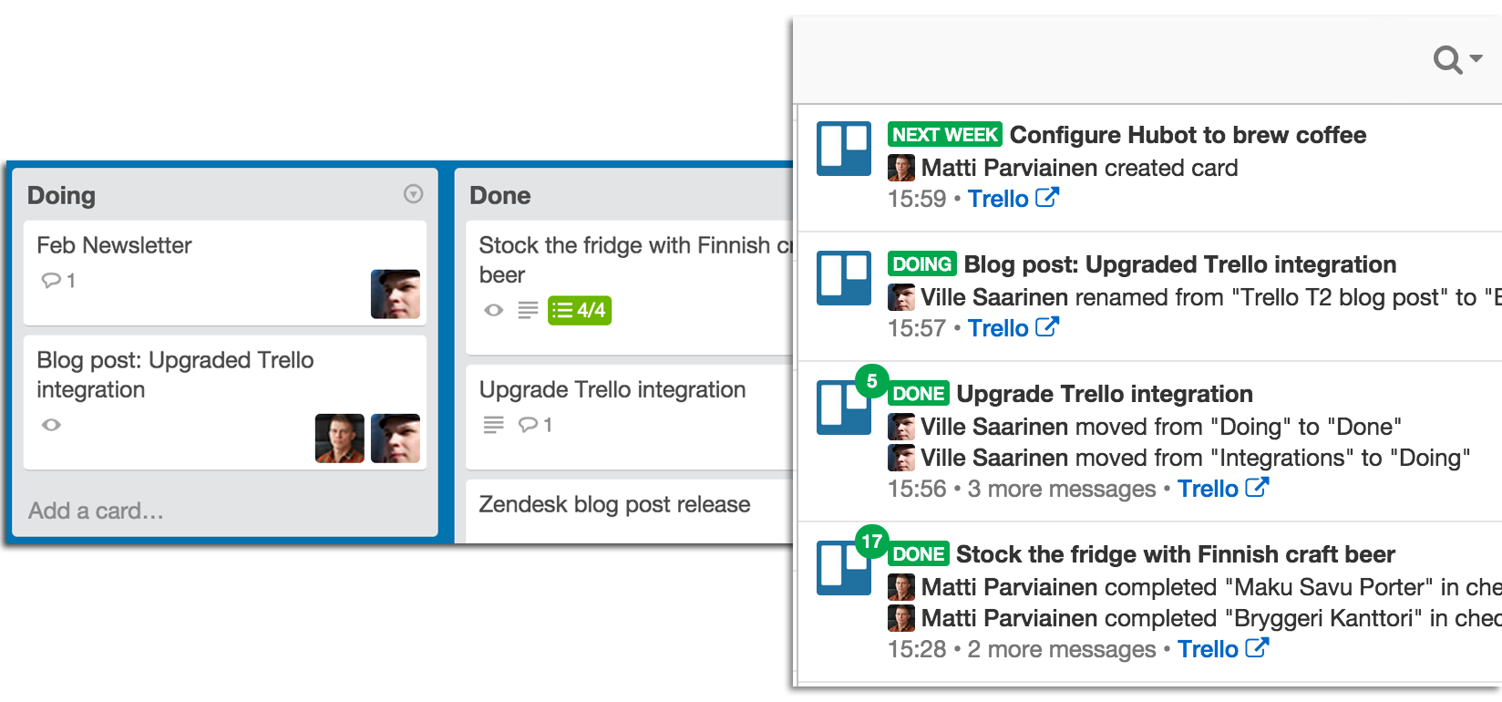 Flowdock's new Trello integration